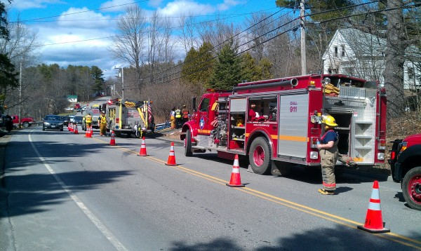 Bucksport and other area fire departments fought a house fire at 1739 River Road in Bucksport around 1 p.m. Monday.