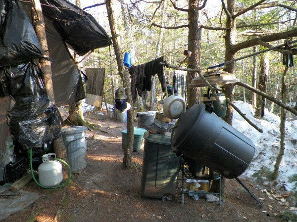 Christopher Knight reportedly lived at this makeshift campsite in Rome, Maine, for 27 years.