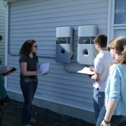 MSSM students learning while increasing energy efficiency of old base house