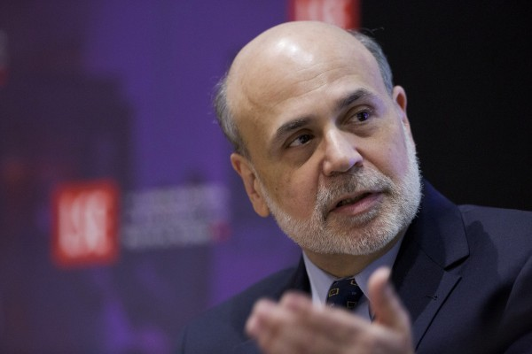 Chairman of the the U.S. Federal Reserve Ben Bernanke speaks at the London School of Economics in this March 25, 2013, file photo. The Fed on Monday issued a proposal that large U.S. banks pay a fee to help cover the cost of regulating them.