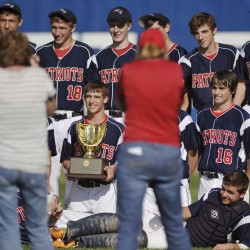 Experience, poise enable Bangor Christian to overcome obstacles, win third straight Class D baseball title