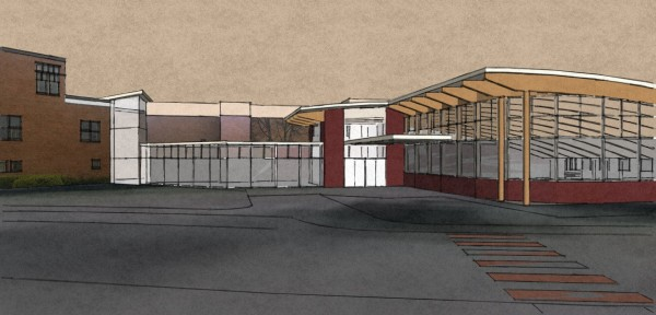 This drawing of the new Northern Maine Community College wellness center shows how the new construction will be incorporated into existing space. Work began last week and is expected to wrap up in April 2014.
