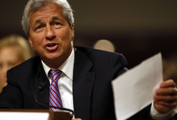 JP Morgan Chase and Company CEO Jamie Dimon answers a question at the U.S. Senate hearing on Capitol Hill in Washington in this file photo taken June 13, 2012.