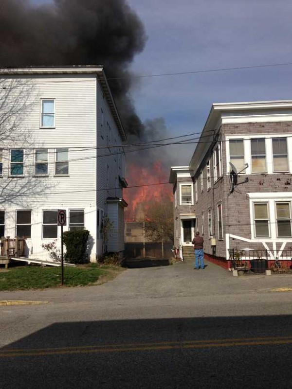 Lewiston firefighters responded to a fully-engaged fire on Blake Street in Lewiston.
