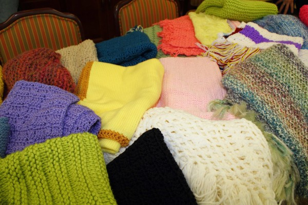 Photo of shawls  courtesy of Sara Hatfield.