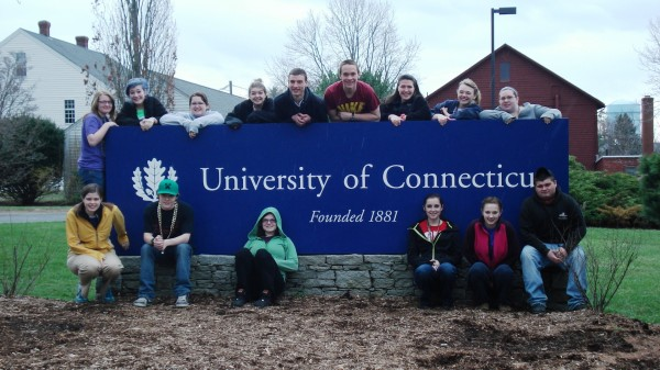 Trekkers students at the University of Connecticut during a 10-day College/Career Expedition.