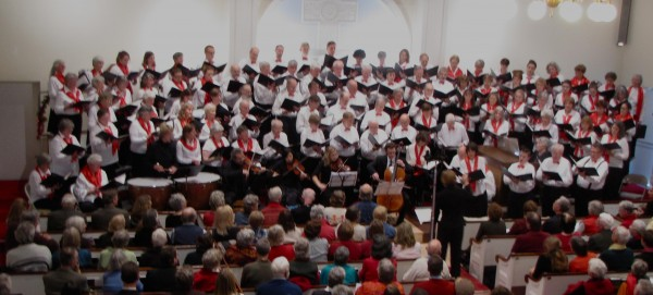 Bagaduce Chorale in performance at Blue Hill Congregational Church