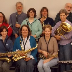 Some Dexter Community Band Members at a recent rehearsal