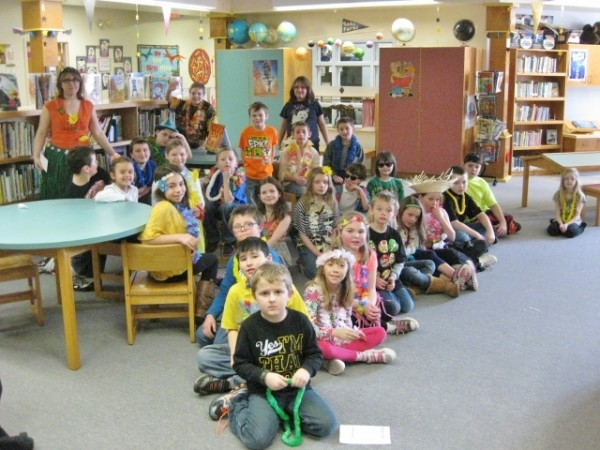 2nd & 3rd grade students with teacher Cathy Fox.