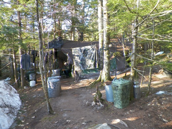 The camp where Maine State Police say Christopher Knight, 47, spent the past 27 years.