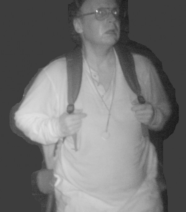 Christopher Knight is shown in this 2012 surveillance photo from a private dwelling break-in. Released by Maine State Police on April 10, 2013.