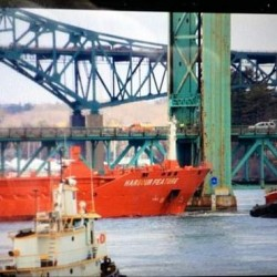Tanker crashes into Sarah Long Bridge, closes Route 1 bypass