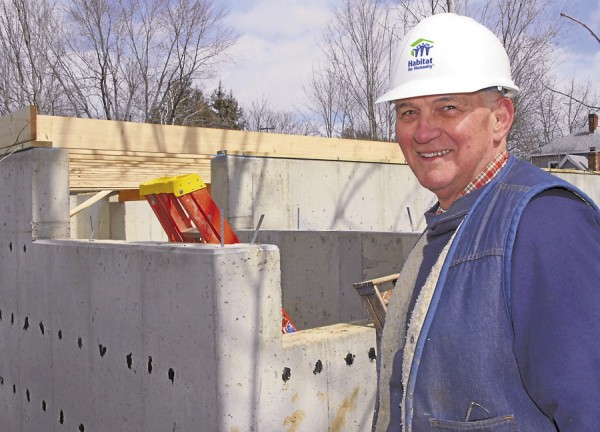 Lin Lufkin, a construction manager retired from Nickerson & O'Day, is volunteering his time to build a Habitat for Humanity house at 5 Cottage St., Hampden. Lufkin is the vice president of the Habitat for Humanity of Greater Bangor board of directors.
