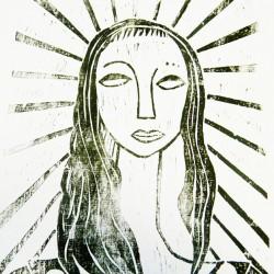 Woodcut by Maya Critchfield