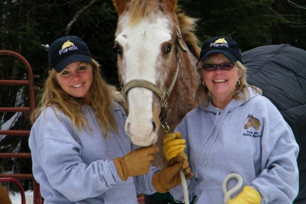 Sisters saving horses with the support of many.