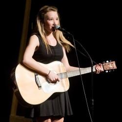 Paige Bacon accompanies a duet. (Todd Douglass Photo)