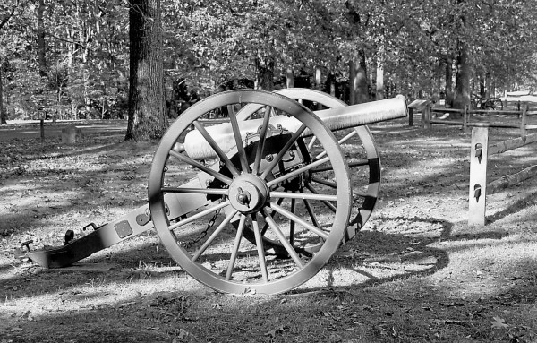 While maneuvering to protect a Union artillery battery near Fredericksburg, Va. on Sunday, May 3, 1863, the 5th Maine Infantry came under heavy fire from Confederate cannons atop the nearby heights. These cannons are located on Prospect Hill in Fredericksburg as part of Fredericksburg & Spotsylvania National Military Park.