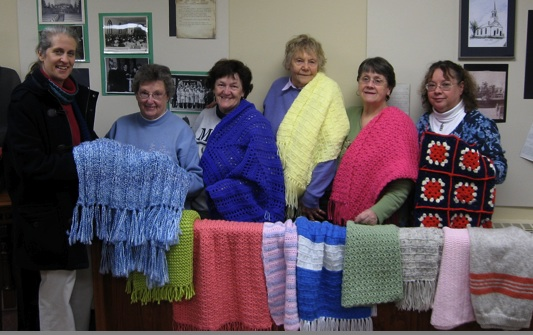 Shawls in memory of Barbara Lamb Perkins