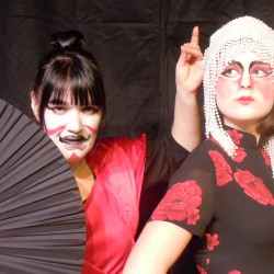 Elaine Bard of Bangor and Rose Ross of Holden appear in Orono Community Theatre's production of TALES OF TRICKERY, April 27 and 28.