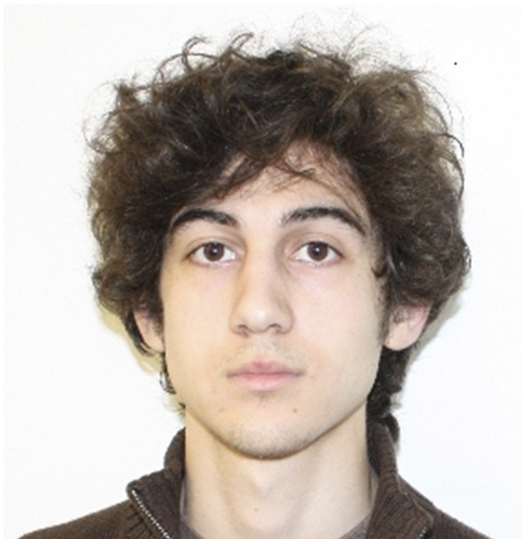 Dzhokhar Tsarnaev, 19, suspect No. 2 in the Boston Marathon explosion is pictured in this undated FBI handout photo.