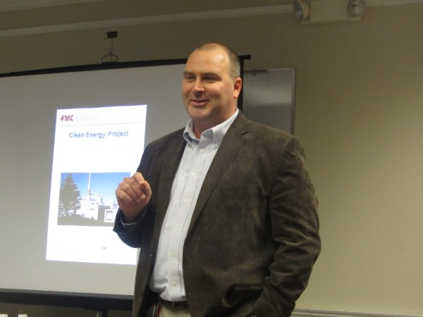 FMC BioPolymer Rockland plant manager Dennis Kearney explains the company's proposal to convert to liquid natural gas.