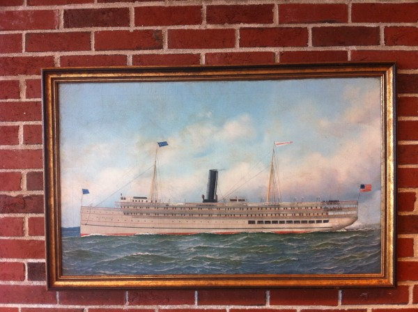 Oil on canvas painting Governor Dingley by an unattributed artist and from the collection of Portland Marine Society.