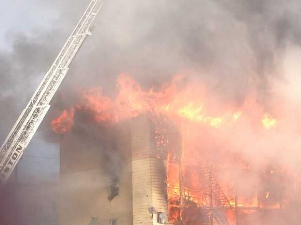 Explosions have been reported at the corner of Blake and Pine streets as firefighters battle a fire at 111 Blake Street.