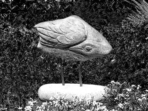 &quotShore Bird&quot sculpture by Lise Becu.