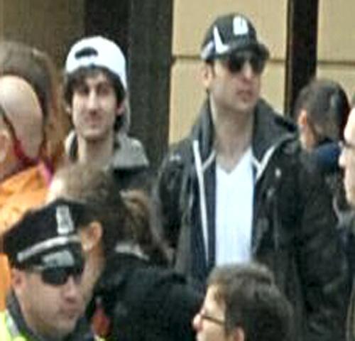 Dzhokar A. Tsarnaev, left, and Tamerlan Tsarneav