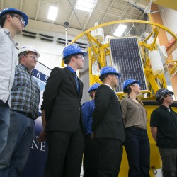 UMaine unveils unique base for floating wind turbine that could provide glimpse into future