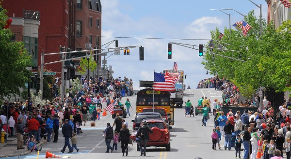 Hundreds of people lined Main Street during the Memorial Day parade in Bangor Monday morning.