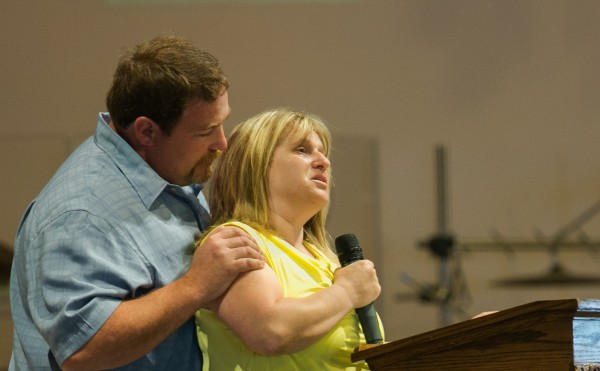 Kristine Wiley, mother of Nichole Cable, spoke at Cable's funeral at the Bangor Baptist Church on Monday, May 27, 2013.