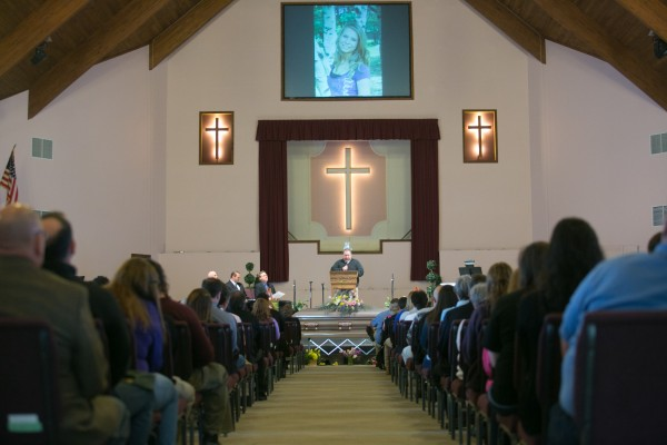 Friends and family attended the funeral of Nichole Cable at the Bangor Baptist Church on Monday, May 27, 2013.