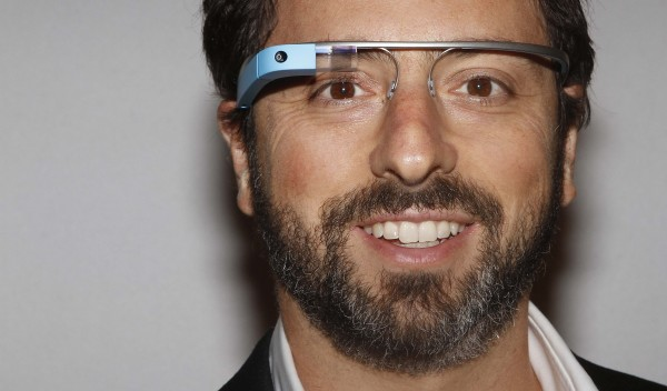 Google founder Sergey Brin poses for a portrait wearing Google Glass during New York Fashion Week in September 2012.