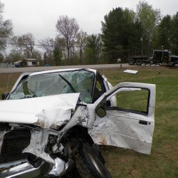 Turner woman dies after car hits tractor-trailer