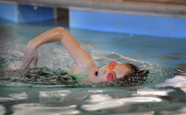 Sydney O'Clery, 8, of Mt. Airy, Md., is training for her seventh kid triathlon.