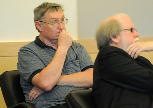 Bruce Fowle (left), 62, of Bangor pleaded guilty Thursday, May 16, to two counts of theft. Fowle allegedly stole $100,000 over a period of several years from the Bangor Fourth of July Corp. fireworks fund and about $40,000 from the Bangor Breakfast Kiwanis between sometime in 2000 and July 31, 2012.
