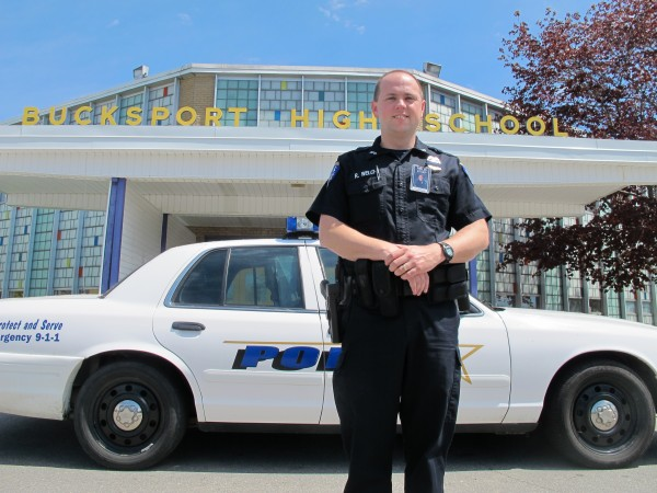 Bucksport Police School Resource Officer Ryan Welch works inside Bucksport's five schools two days per week. The city and school district are considering making the position full-time to better protect and educate students.