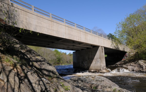 According to Bangor police, Officer Derek Laflin pulled a despondent man from the outer railing on the bridge over Valley Avenue at about 9:25 p.m. Sunday.