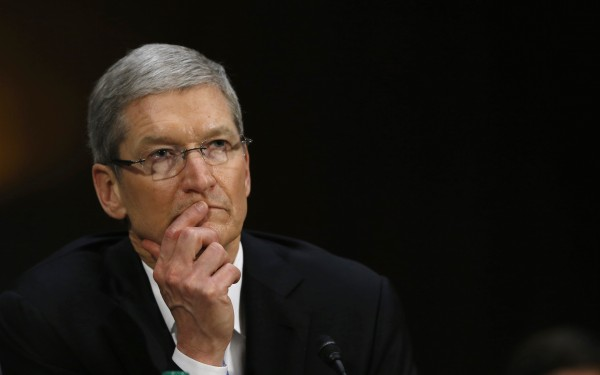 Apple CEO Cook during Senate homeland security and governmental affairs investigations subcommittee hearing in Washington
