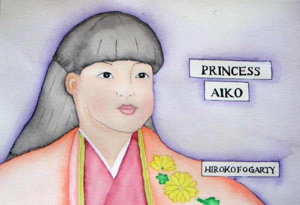 The cover of Hiroko Fogarty's new book, &quotPrincess Aiko,&quot features a watercolor of the popular Japanese princess.