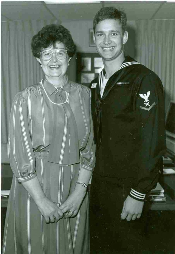 Darryl Lyon, of Bangor, is pictured with his mother, Joan Lyon, in 1991, in Washington, D.C.