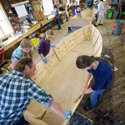 On a sneeze, not a prayer, South Bristol eighth-graders launch skiffs