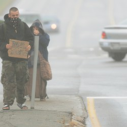 Panhandler suspended from general assistance for failing to report income