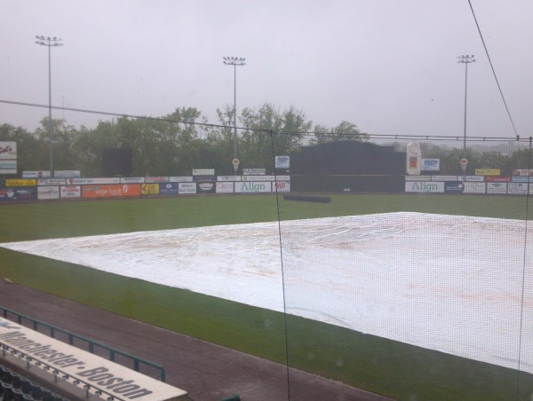 The America East championship baseball game pitting UMaine against Binghamton was postponed Saturday because of bad weather conditions.