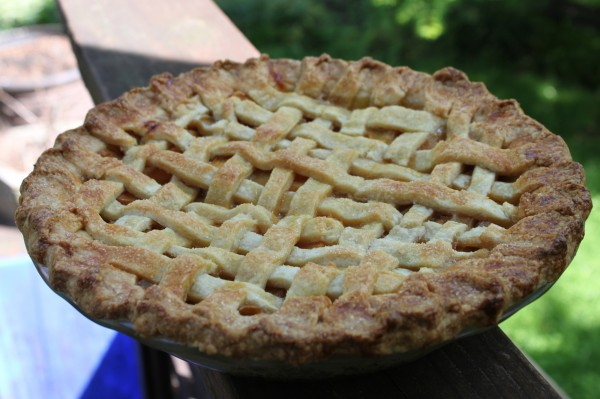 A little ginger in the pie crust makes all the difference in Dan's Peach Pie.