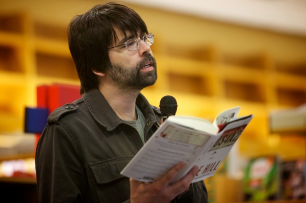 Author Joe Hill reads from his latest novel, &quotNOS4A2,&quot at Books a Million in South Portland in May. Hill, whose real name is Joseph Hillstrom King, is the son of Stephen and Tabitha King.