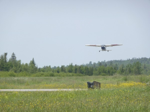 A small plane leaves Machias Valley Airport in this June 2011 file photo.