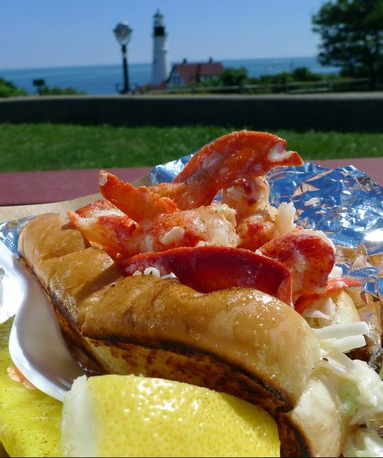 Bite Into Maine, a food truck operating out of Fort Williams Park in Cape Elizabeth, produced this &quotpicnic style&quot lobster roll as its entry in the prestigious Tasting Table Lobster Roll Rumble in New York City this year. Bite Into Maine owners Karl and Sarah Sutton say their operation is the smallest to ever compete in the annual challenge.