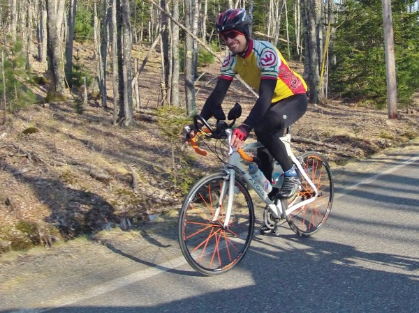 It's hard not to be all smiles when you are cyclist with the opportunity to ride on the Park Loop Road in Acadian National Park with no traffic. Alan Jenkins of Fort Kent was among the hundreds of cyclists doing just that last weekend.